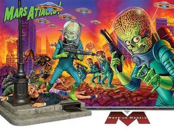 MARS ATTACKS MARTIAN MODEL KIT BY MOEBIUS MODELS MISB NEW!
